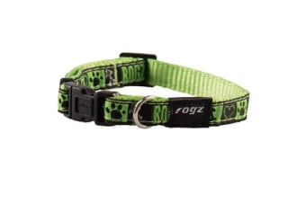 Rogz Fancy Collar Lime Juice - L