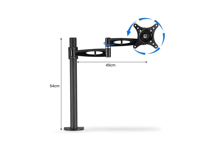 Fully Adjustable Monitor Arm Smooth Gas Spring Movement
