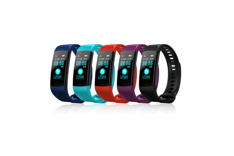 Y5 Color Screen Fitness Watch Activity Tracker With Heart Rate Monitor Purple