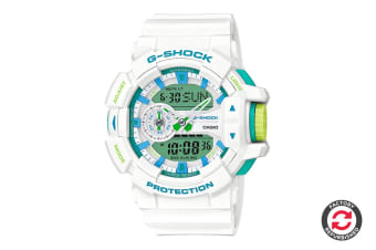 Refurbished Casio G-Shock Ana-Digital Watch - White/Green (GA400WG-7A)