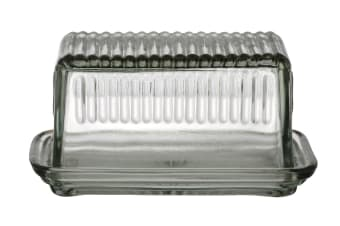 Hemingway Glass Butter Dish With Lid