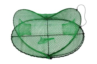 Seahorse Folding Opera House Trap With 75mm Rings-Green Yabbie Trap