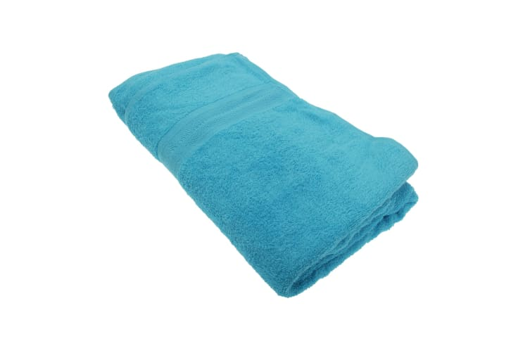 Jassz Beach/Bath Plain Sheet Towel 100cm x 180cm (350 GSM) (Aqua) (One Size)