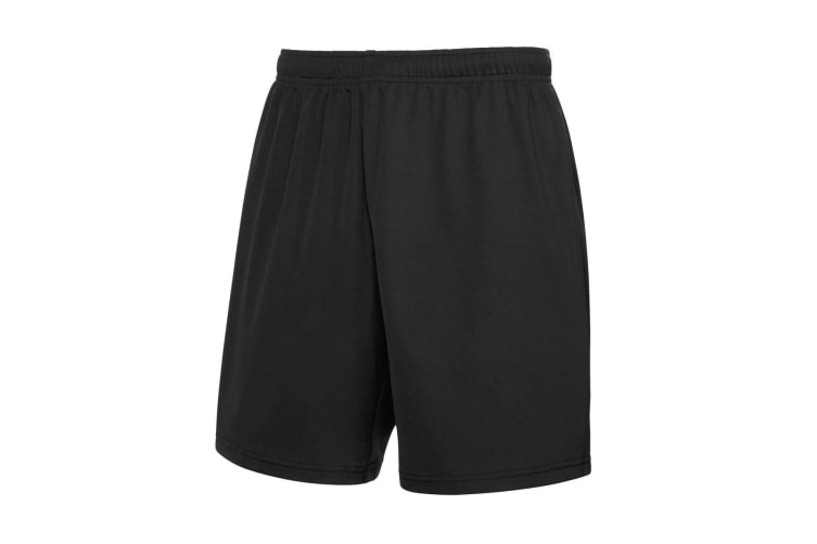 Fruit Of The Loom Mens Moisture Wicking Sports Performance Shorts (Black) (2XL)