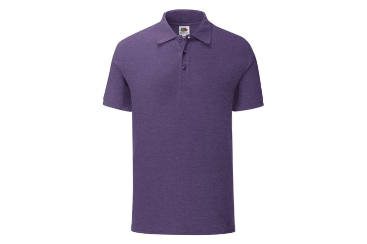 Fruit Of The Loom Mens Iconic Pique Polo Shirt (Heather Purple) (L)