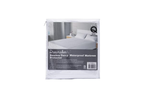 Bamboo / Terry waterproof pillow protector Twin Pack