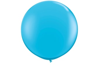 Qualatex 5 Inch Plain Latex Party Balloons (Pack Of 100) (48 Colours) (Robins Egg Blue)
