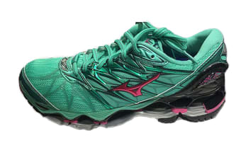 Mizuno Women's WAVE PROPHECY 7 Running Shoe (Billiard/Fuchsia Purple/Pacific, Size 8.5 US)