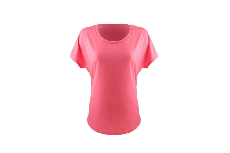 Next Level Womens/Ladies Ideal Dolman T-Shirt (Hot Pink) (XS)