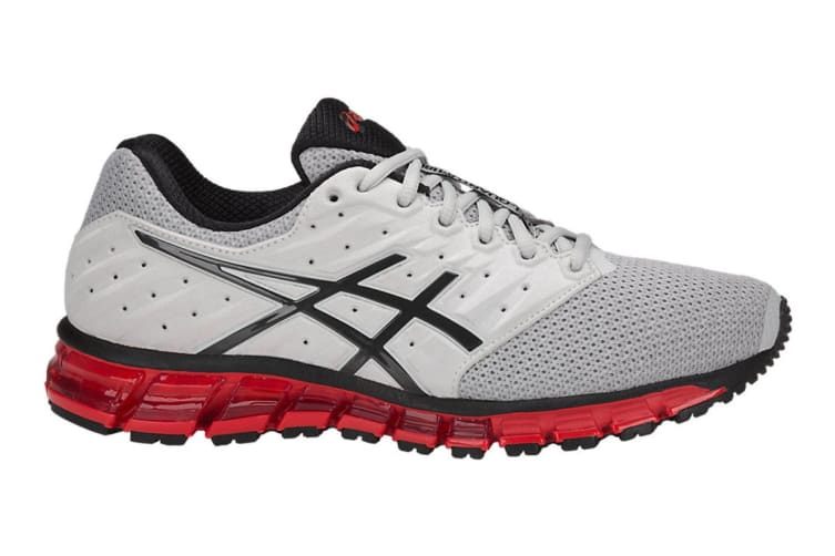 ASICS Men's Gel-Quantum 180 2 MX Running Shoe (Glacier Grey/Phantom/Fiery Red, Size 7.5)