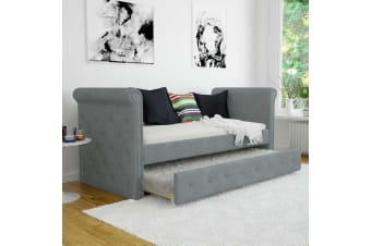 Gaiana 3 Seater Single Sofa Daybed w/ Trundle - Light Grey