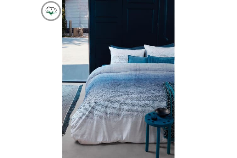 Graphic Disorder Blue Quilt Cover Set Queen