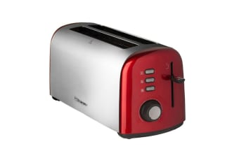 Westinghouse 4 Slice Long Slot Toaster - Pearl Red