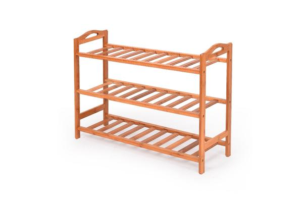 Image of 3 Tier Wooden Shoe Rack