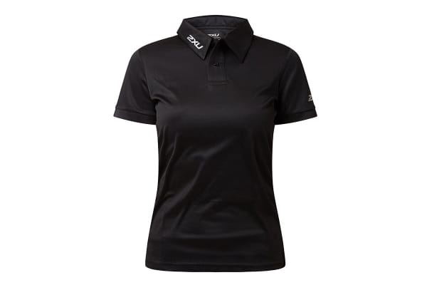 2XU Women's Performance Polo (Black/Black, Size XXL)