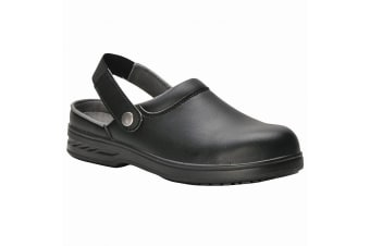 Portwest Unisex Steelite Safety Clog (FW82) / Workwear (Black) (10)