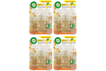 8pc Air Wick 19ml Scented/Essential Oil Refill f/ Electric Diffuser Frangipani