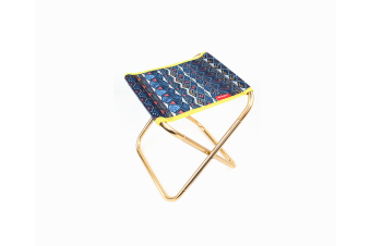 Outdoor Folding Stool 7075 Aluminum Alloy Mini Portable Barbecue Fishing Chair Blue
