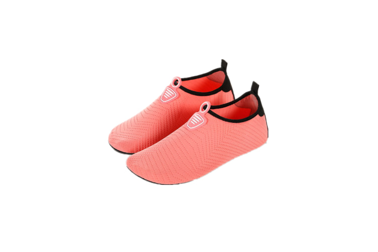 Water Socks Soft Slippers Sports Aqua Shoes Wading Diving Shoes Barefoot Shoes Orange 34-35