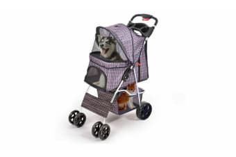 PawZ 4 Wheels Pet Stroller Dog Cat Puppy Jogger Pushchair Travel Carrier Pram