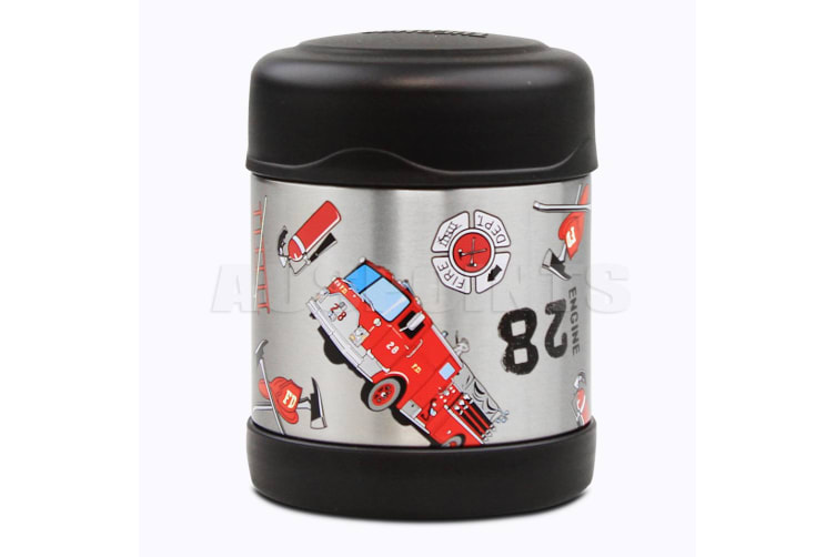 Thermos Funtainer S/Steel Vacuum Insulated Food Jar 290ml Rescue Fire Truck