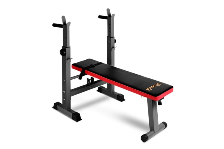 Multi-Station Weight Bench Press Fitness Weights Equipment Incline Red