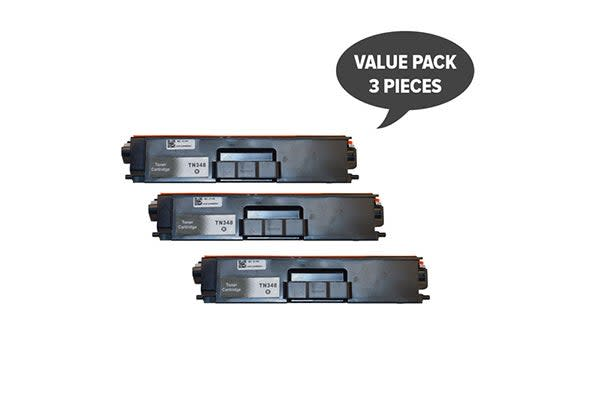 TN-348 Black Super High Yield Generic Toner (Three Pack)