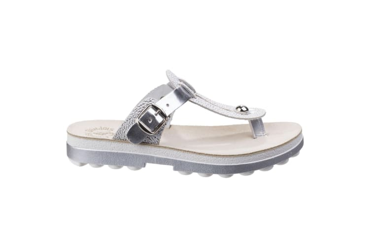Fantasy Womens/Ladies Mirabella Buckle Up Sandals (Silver Caviar) (5 UK)