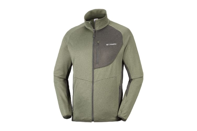 Columbia Drammen Point Full Zip Fleece (Mosstone/Peatmoss, Size L)