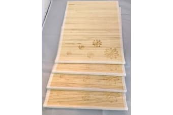 Set of 8 Bamboo Kitchen Placemats Place Mat Dinner Table Decor Party New
