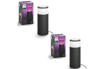 2PK Philips Hue Outdoor Pedestal Colour Ambiance LED Light/Lighting Extension