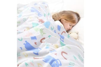 Dreamz Weighted Blanket Heavy Gravity 100% Soft Cotton Cover Kids Gift Fast Post  -  Design B