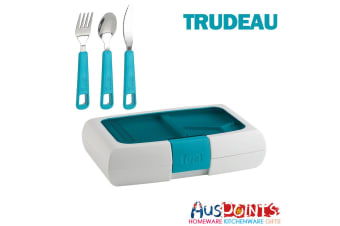 New Trudeau Bento Lunch Box Container Stainless Steel Cutlery Set BPA Free