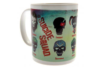 Suicide Squad Official Skull Mug (Multicoloured) (One Size)