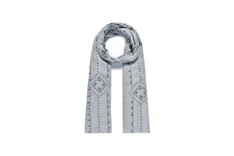 Intrigue Womens/Ladies Intricately Embroidered Scarf (Grey) (One Size)