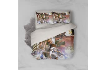 3D Anime Attack Giant Quilt Cover Set Bedding Set Pillowcases 68-Double