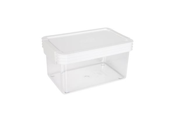 ClickClack Kitchen Essentials Container 0.9L White
