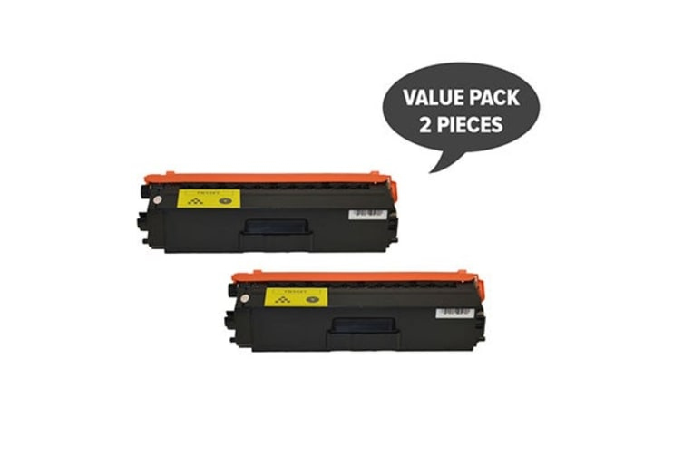 TN-348 Yellow Super High Yield Generic Toner (Two Pack)