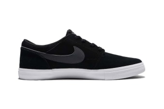Nike Men's SB Portmore II Shoe (Black/White/Dark Grey, Size 9)