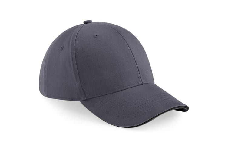 Beechfield Adults Unisex Athleisure Cotton Baseball Cap (Graphite Grey/Black) (One Size)