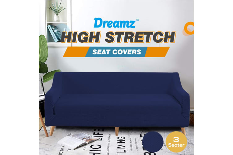 DreamZ Couch Stretch Sofa Lounge Cover Protector Slipcover 3 Seater Navy
