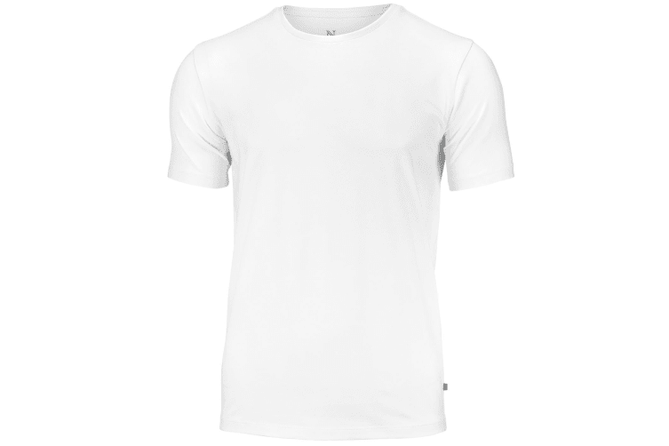 Nimbus Mens Montauk Essential Short Sleeve T-Shirt (White) (L)