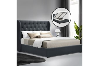 Artiss Gas Lift Bed Frame - Charcoal