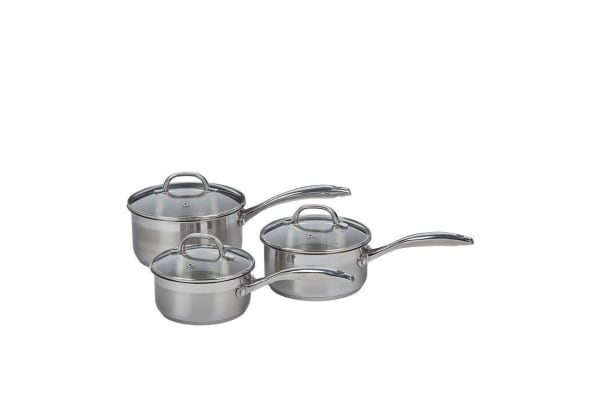 Swiss Diamond Premium Steel Induction 3pc Saucepan Set