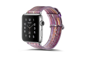 Compatible Apple Watch Band Pierre Case Genuine Leather iwatch Strap Rainbow Replacement Bands 42MM