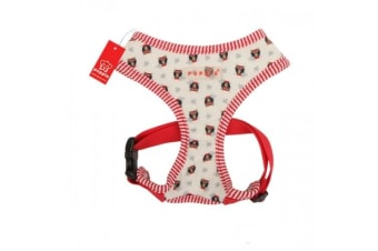 Puppia Owlet Dog Harness A (Ivory/Red) (S)