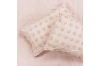 Linen House Haze Housewife Pillowcase Pair (Peach) (50 x 75cm)