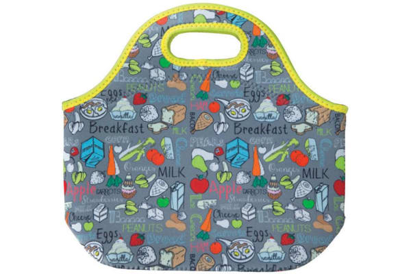 Water Resistant Neoprene Lunch-Bag W/Shoulder Strap For Lunchbox Cold Warm Food