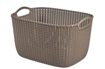 Curver Rectangular Knit Basket (19lt)