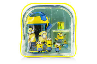 Air Val International Minions Coffret: EDT Spray 50ml/1.7oz + Water Bottle + Backpack 2pcs+1bag
